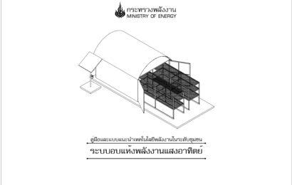 แบบระบบโรงอบแห้งพลังงานแสงอาทิตย์ขนาด 3X4 เมตร