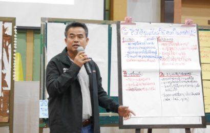 """สัมมนาเชิงปฏิบัติการ""""สรุปบทเรียนโครงการเพิ่มสมรรถนะด้านการบริหารและจัดการพลังงาน ครบวงจรในชุมชนระดับตำบลและวิสาหกิจชุมชน ประจำปี 2561"""" ระหว่างวันที่ 6-8 สิงหาคม 2561 ณ จังหวัดนครนายก"""